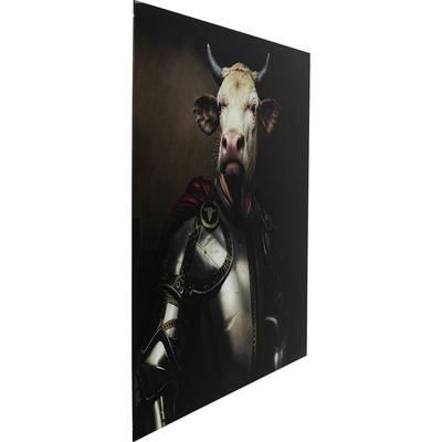 Cuadro cristal Knight Cow 120x120cm