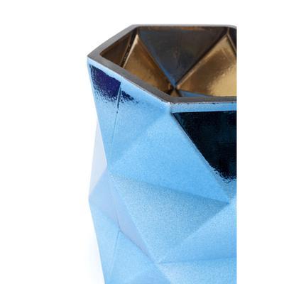 Portavelas Rhomb azul 11cm