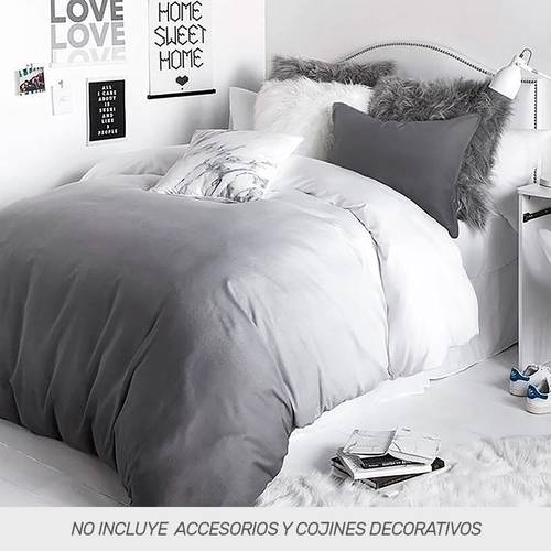 Duvet Microtex Full Digital Degrade Negro