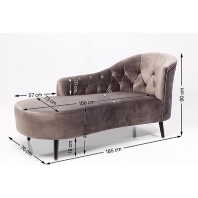 Sillón chaiselongue Julietta gris