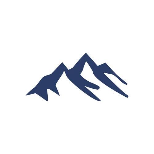 Polo Color Siete Para Hombre Blanco - Montañas