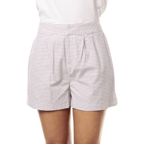 Short Color Siete Para Mujer  - Beige
