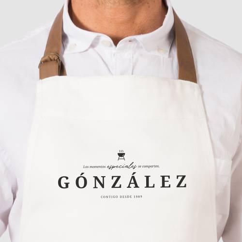 Delantal Color Siete González - Beige