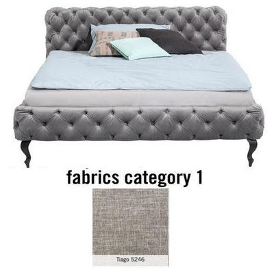 Cama Desire, tela 1 - Tiago   5246, (100x177x228cms), 160x200cm (no incluye colchón)