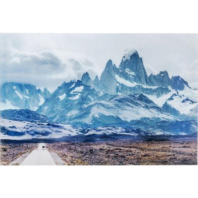 Cuadro cristal Road To The Mountains 100x150cm