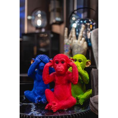 Alcancía Monkey Mizaru azul