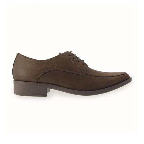 Zapato Formal Para Hombre En Cuero Café