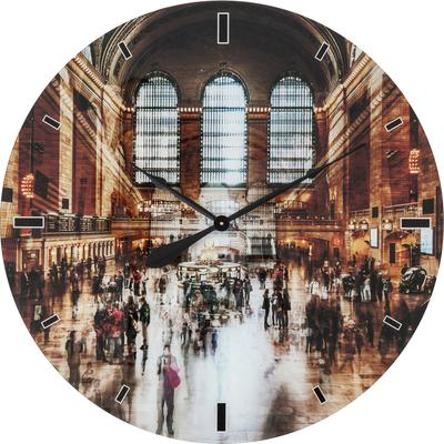 Reloj pared Glas Grand Central Ø80cm