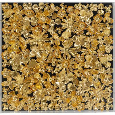 Cuadro Flower oro 60x60cm