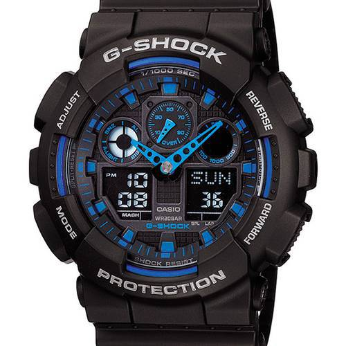 Reloj g-shock anadigi azul-negro -1A2