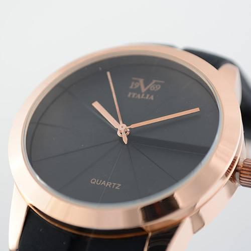 Reloj oro rosa-negro 49-2