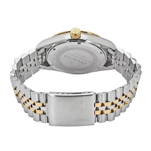 Reloj quartz carbón-acero dorado 9377
