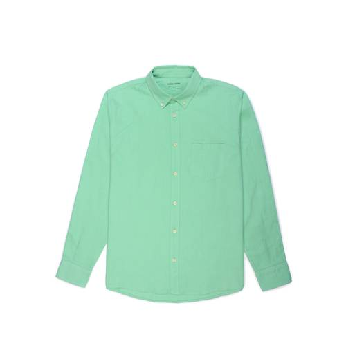 Camisa Oxford Manga Larga - Verde