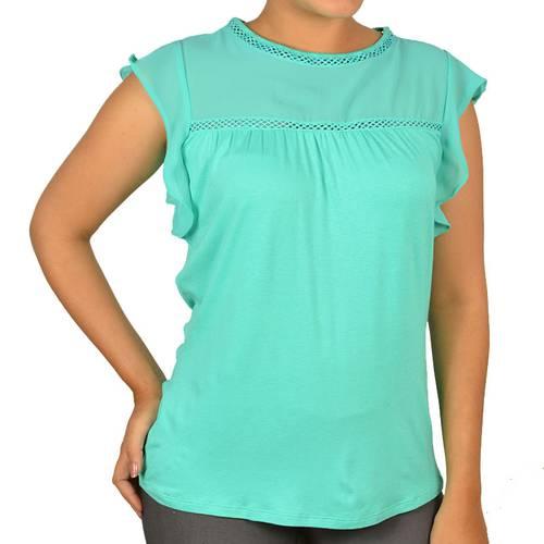 Camiseta M/C Fe-F. Floral 815314 Jade -Jad - STILETTO