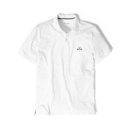 Polo Color Siete Para Hombre Blanco - Golf