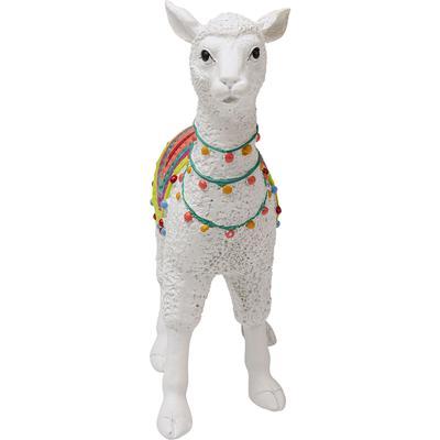 Objeto decorativo Alpaca blanco 24cm