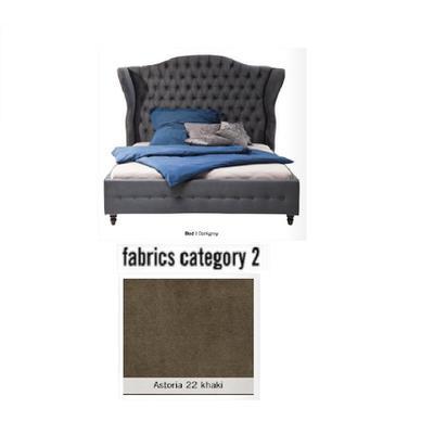 Cama City Spirit, tela 2 - Astoria 22 khaki, (120x156x260cms), 160x200cm (no incluye colchón)