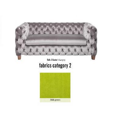 Sofá, 3 puestos, My Desire, tela 2 - 388 green  (245x68x100cms)