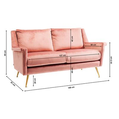 Sofá San Diego 2pl rosa 145cm