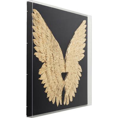 Decoración pared Wings oro negro 120x120cm