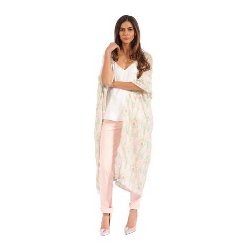 Kimono Color Siete Para Mujer  - Rosado