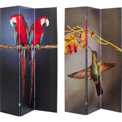 Biombo Twin Parrot vs Cute Colibri 120x180cm