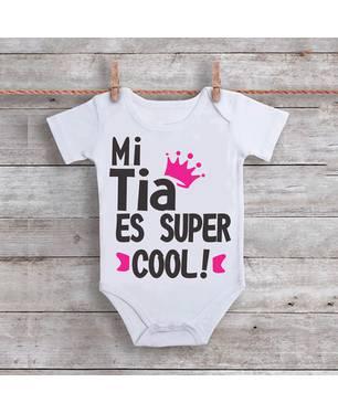 Mameluco Mi Tía Es Súper Cool Am-003 Blanco - Ingenio Creativo
