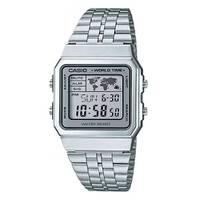 Reloj digital gris-plateado A-7D