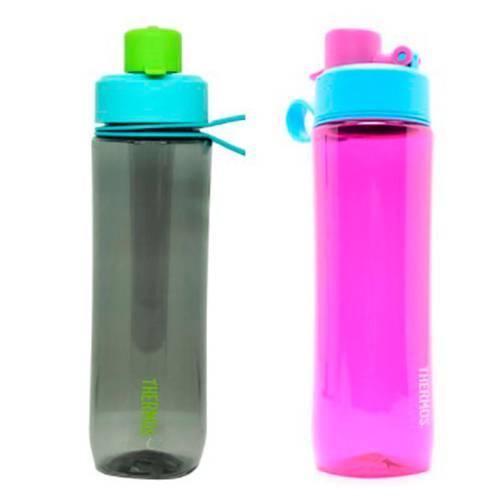 Botella Hidratación Tritan 710Ml Gris Y Rosada