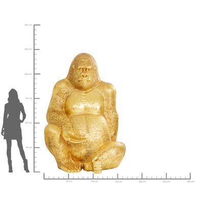 Figura Gorilla oro XXL 249cm