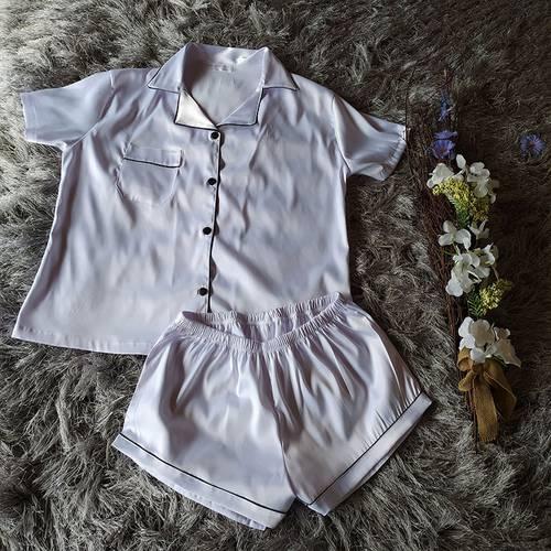 Pijama Iris manga corta Blanco C1-R38-Bla