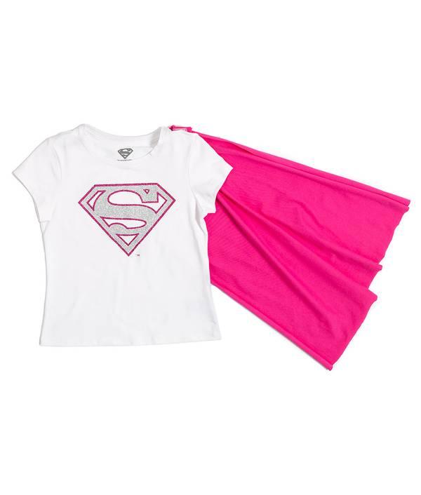 Camiseta Con Capa Niña Superman