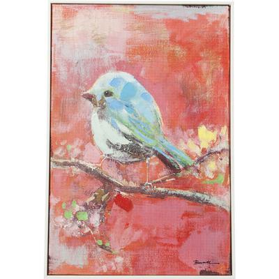 Cuadro Bird 60x40cm rojo