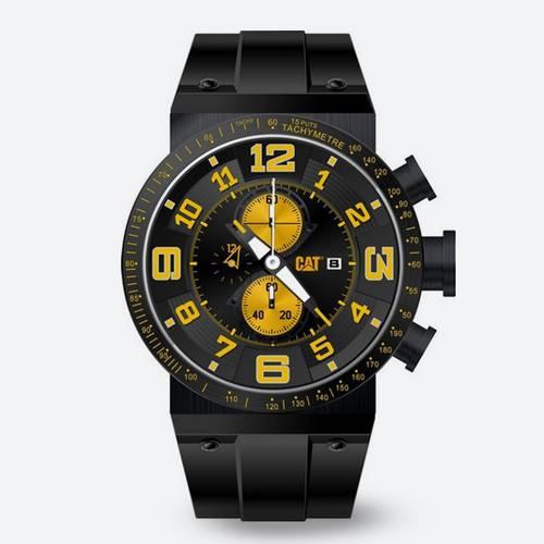 Reloj Cronógrafo Negro-Negro