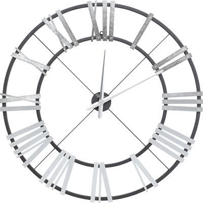 Reloj pared Nevio plata Ø95cm