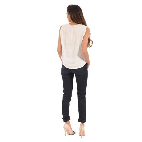 Blusa Melodie Color Siete para Mujer - Blanco