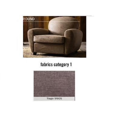 Poltrona Round, tela 1 - Tiago  9905  (84x82x84cms)