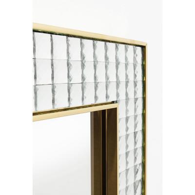 Espejo Crystals Steel oro 120x80cm