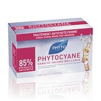 PHYTOCYANE Tratamiento Anti-Caída Estimulador de Crecimiento - 12 Ampollas x 7.5 ml
