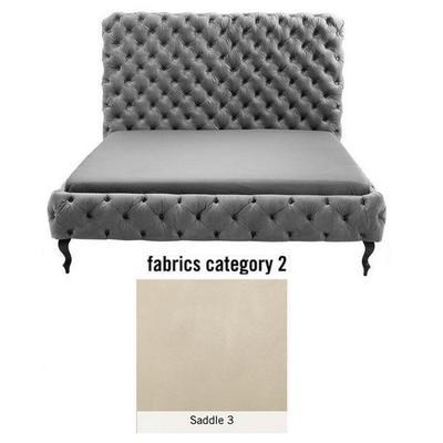 Cama (Alta) Desire, tela 2 - Saddle 3,  (135x197x228cms), 180x200cm (no incluye colchón)