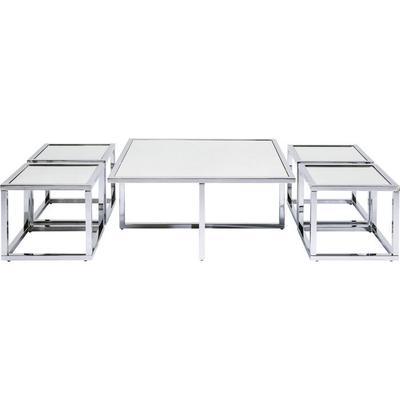 Mesa centro Quad plata 80x80cm (5/Set)