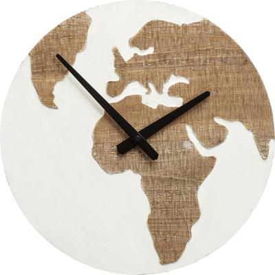 Reloj pared Antique Continent blanco Ø36cm