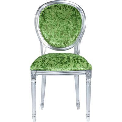 Silla Posh plata/verde