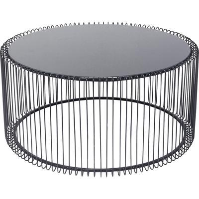 Mesa centro Wire Uno negro Ø80cm