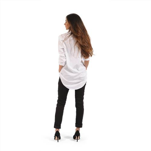 Camisa Manga Larga Danielle Color Siete Para Mujer  - Blanco