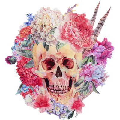Decoración pared Acryl Art Skull Flower 75x80cm