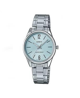 Reloj análogo azul-plateado D-2B