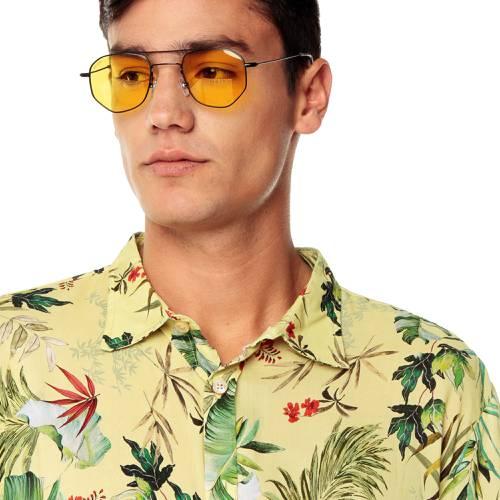 Camisa Manga Corta La Jolla Rosé Pistol Para Hombre - Amarillo