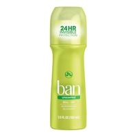 Ban Roll-On Antiperspirant Deodorant Unscented 103 Ml