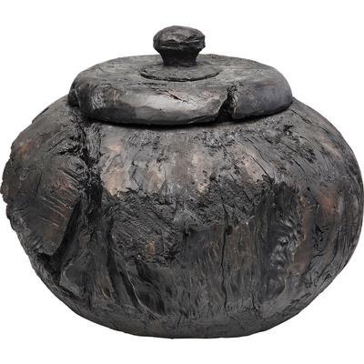 Vasija decorativa Elemento negro 36cm
